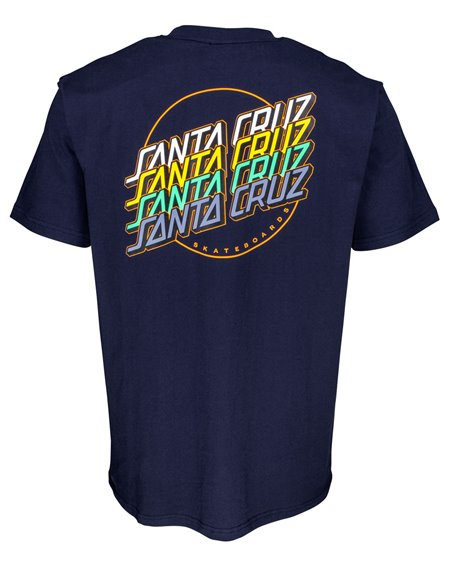 Santa Cruz Men's T-Shirt Multi Strip Dark Navy