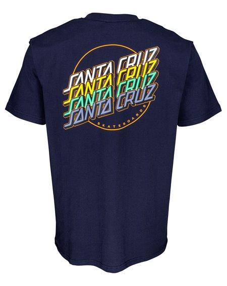 Santa Cruz Multi Strip Camiseta para Homem Dark Navy