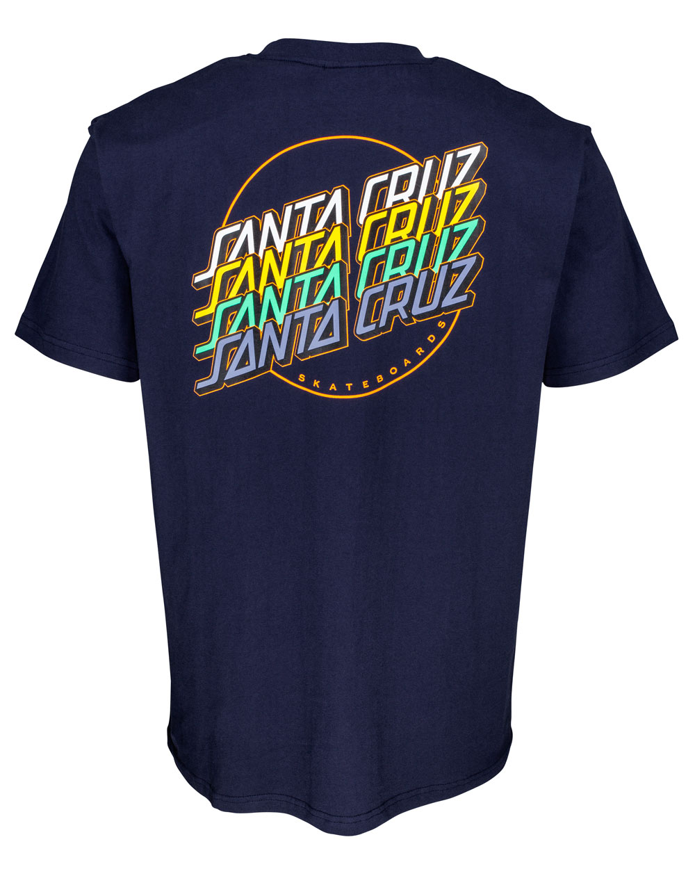 Santa Cruz Herren T-Shirt Multi Strip Dark Navy