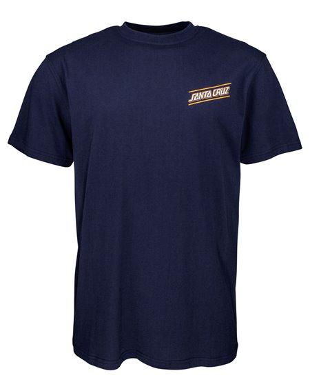 Santa Cruz Men's T-Shirt Multi Strip Dark Navy