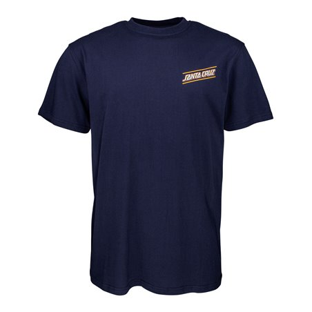 Santa Cruz Multi Strip T-Shirt Uomo Dark Navy
