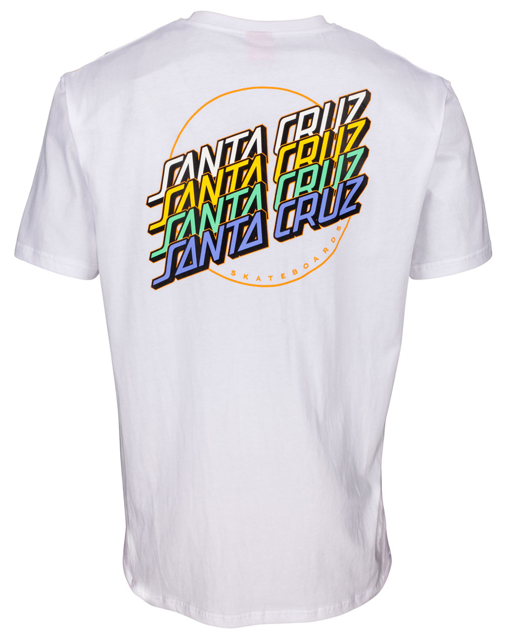 Santa Cruz Multi Strip T-Shirt Homme White