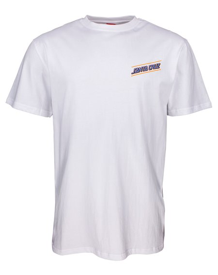 Santa Cruz Men's T-Shirt Multi Strip White