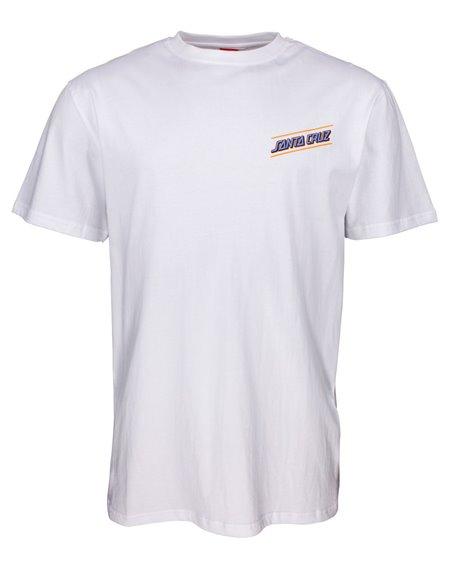 Santa Cruz Multi Strip T-Shirt Uomo White