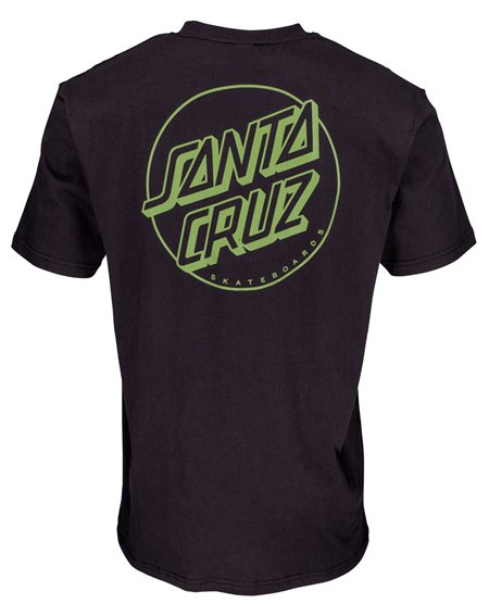 Santa Cruz Opus Dot Stripes Camiseta para Hombre Black