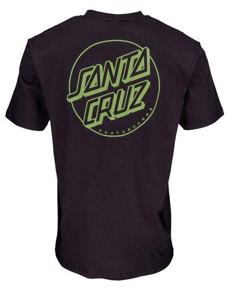 Santa Cruz Opus Dot Stripes Camiseta para Homem Black