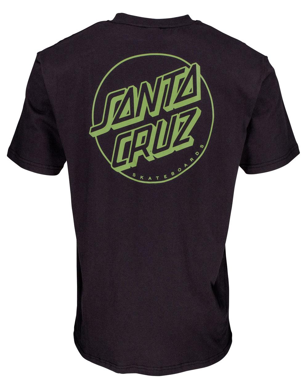 Santa Cruz Herren T-Shirt Opus Dot Stripes Black