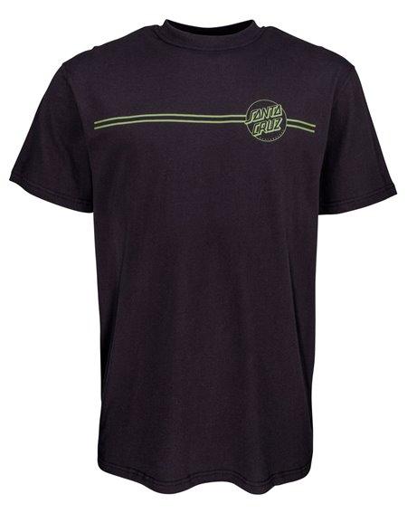 Santa Cruz Opus Dot Stripes T-Shirt Homme Black