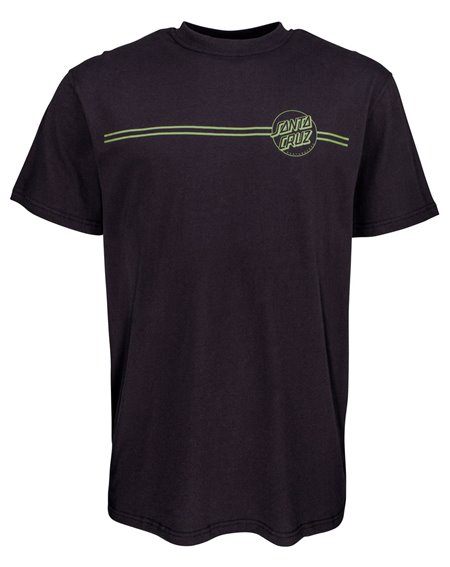 Santa Cruz Opus Dot Stripes T-Shirt Uomo Black