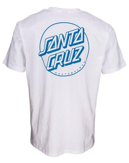 Santa Cruz Men's T-Shirt Opus Dot Stripes White
