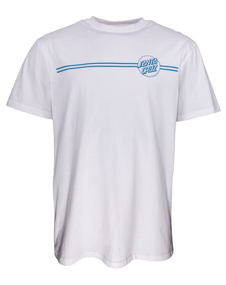 Santa Cruz Men's T-Shirt Opus Dot Stripes White