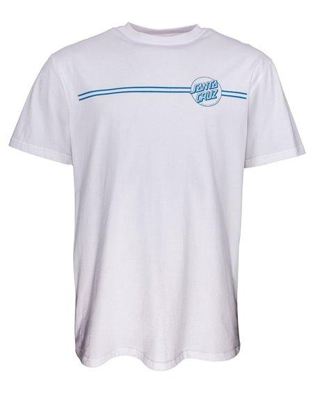 Santa Cruz Opus Dot Stripes T-Shirt Homme White