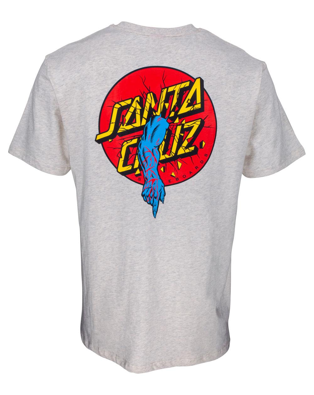 Santa Cruz Men's T-Shirt Rob Dot Athletic Heather