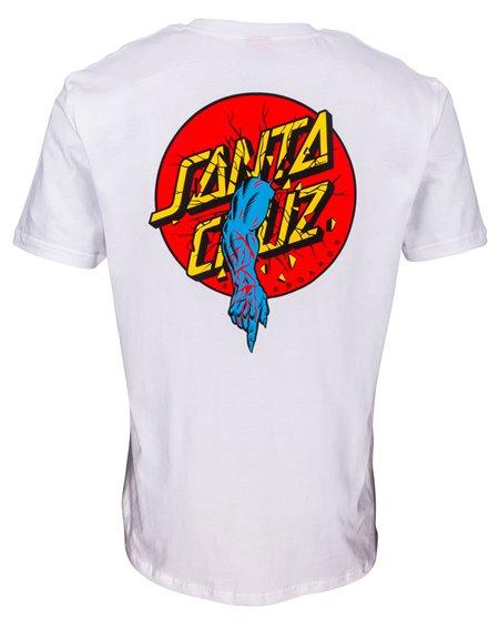 Santa Cruz Men's T-Shirt Rob Dot White