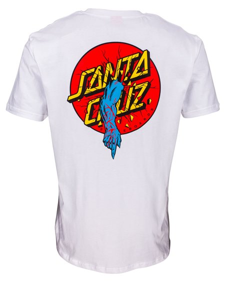 Santa Cruz Rob Dot Camiseta para Hombre White