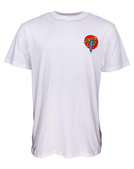 Santa Cruz Rob Dot T-Shirt Uomo White
