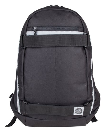 Santa Cruz Plaza Skateboard Rucksack Black