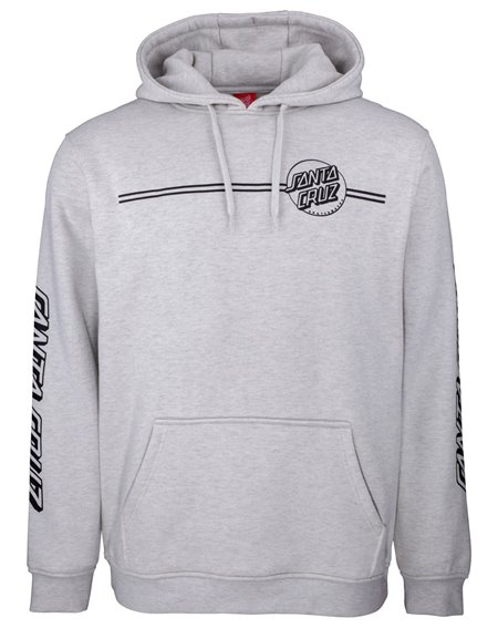 Santa Cruz Men's Hoodie Opus Dot Stripes Athletic Heather