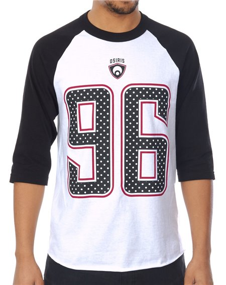 Osiris Game Day T-Shirt Uomo Black/White