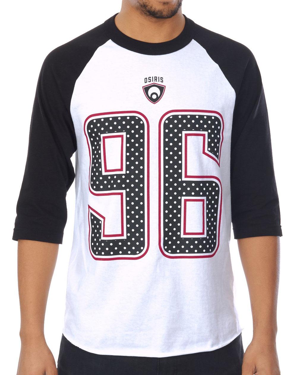 Osiris Game Day T-Shirt Uomo Black/White