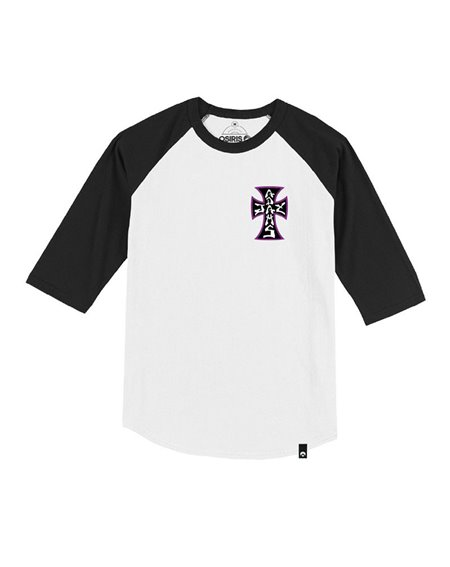 "Osiris Men's T-Shirt Jay Adams Forever ""The Cross"" Black/Purple"