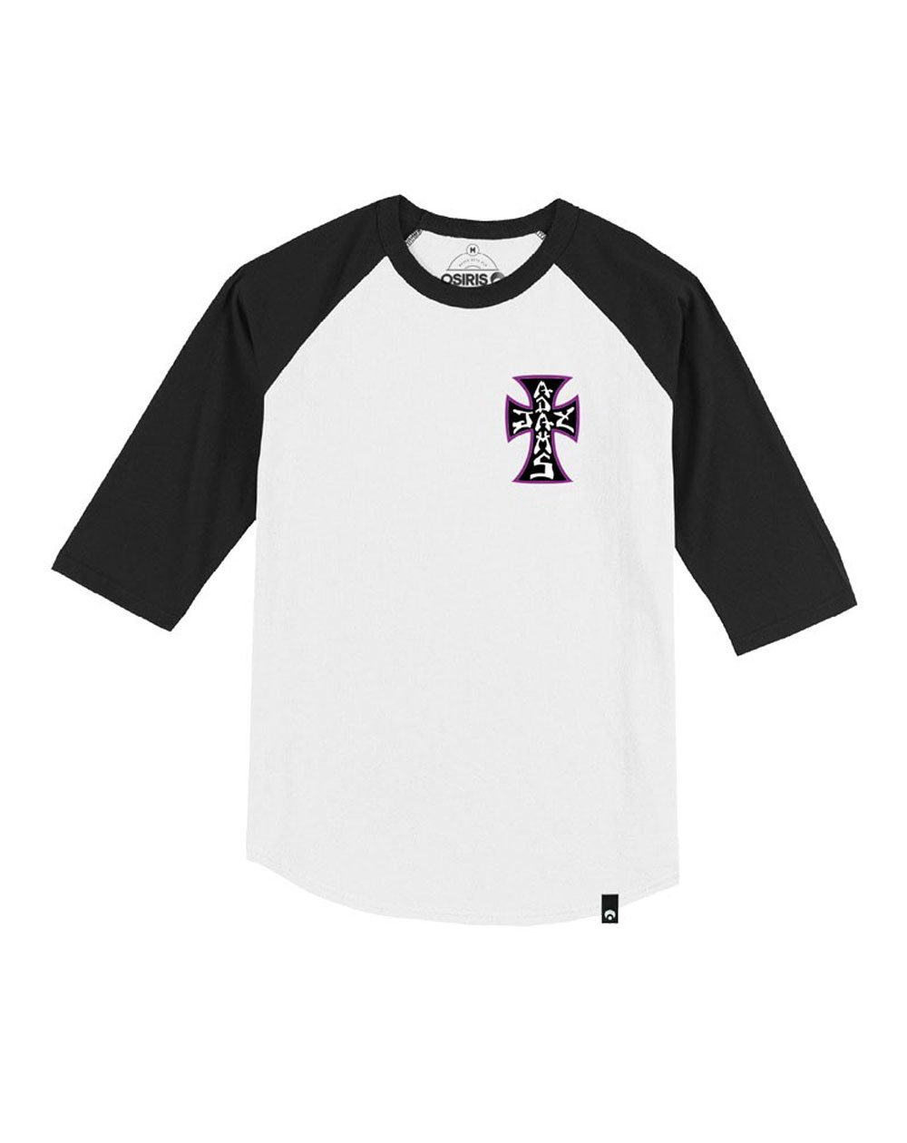 "Osiris Herren T-Shirt Jay Adams Forever ""The Cross"" Black/Purple"