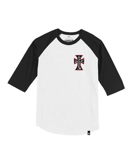 S - XL Herren Skateboard Shirt Santa Cruz Dressen Cross T-Shirt black
