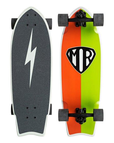 Quiksilver Mr Retro Skateboard Cruiser Greenbolt
