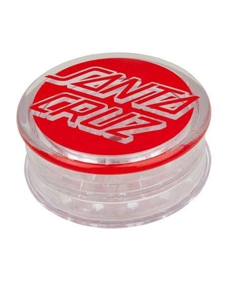 Santa Cruz Classic Dot Trita Tabacco Grinder Clear