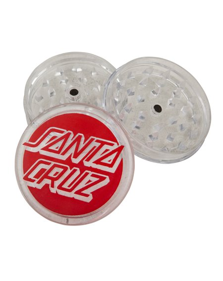 Santa Cruz Classic Dot Triturador de Tabaco Grinder Clear