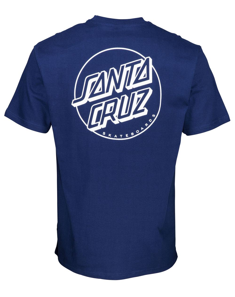 Santa Cruz Opus Dot Stripe Camiseta para Homem Dark Navy