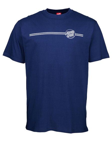 Santa Cruz Opus Dot Stripe T-Shirt Homme Dark Navy