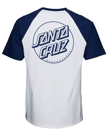 Santa Cruz Opus Dot Camiseta para Hombre Dark Navy/White