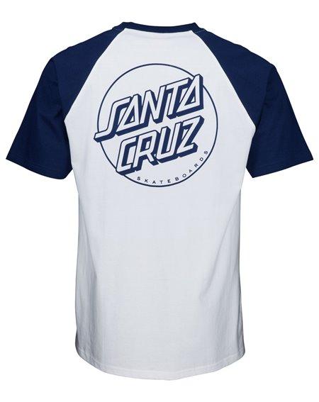 Santa Cruz Opus Dot Camiseta para Homem Dark Navy/White