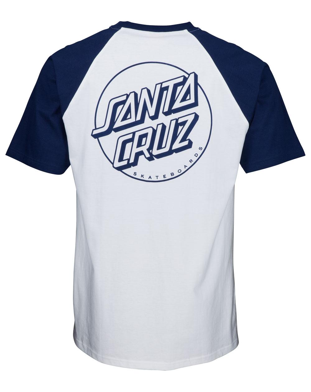 Santa Cruz Opus Dot T-Shirt Uomo Dark Navy/White