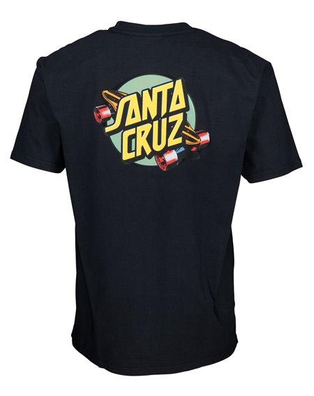 Santa Cruz Summer of 76 Camiseta para Homem Black