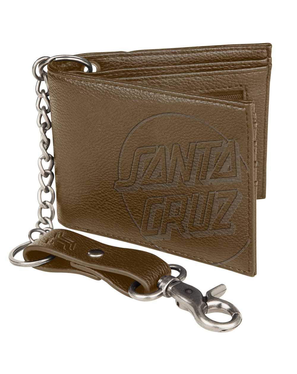 Santa Cruz Opus Dot Geldbörse mit Kette Brown
