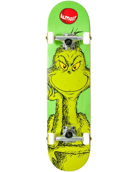 Almost Grinch Mid Skateboard Green