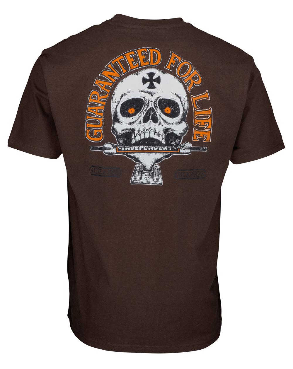 Independent Men's T-Shirt Guaranteed Dark Chocolate