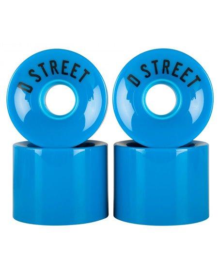 D-Street Ruote Longboard 59 Cents Blue 4 pz