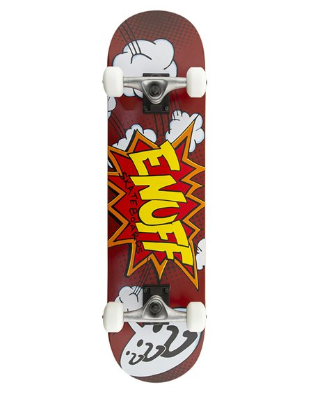 "Enuff Pow 7.75"" Complete Skateboard Red"