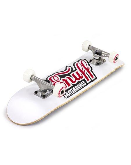 """Enuff Classic Logo 7.75"""" Complete Skateboard White"""