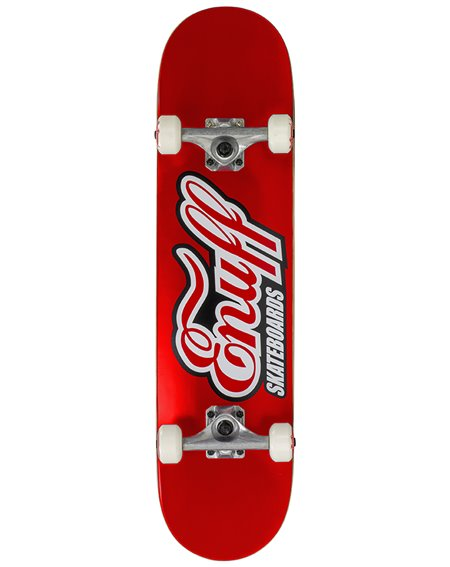 "Enuff Classic Logo 7.75"" Complete Skateboard Red"