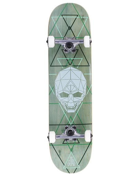 """Enuff Skateboard Complète Geo Skull 8.00"""" Green"""
