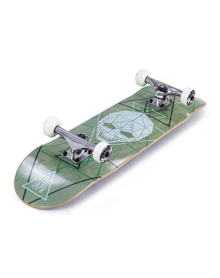 "Enuff Geo Skull 8.00"" Complete Skateboard Green"