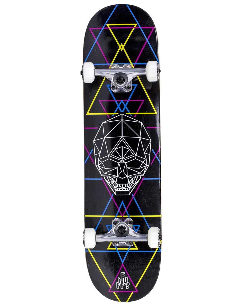 "Enuff Geo Skull 8.00"" Complete Skateboard Black"