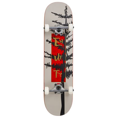 "Enuff Evergreen Tree 8.00"" Complete Skateboard Warm Grey/Red"