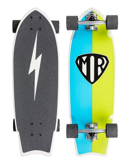 Quiksilver Skateboard Cruiser Mr Retro Blue/Topaz