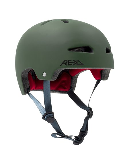 Rekd Protection Ultralite In-Mold Helme für Skateboarding Green