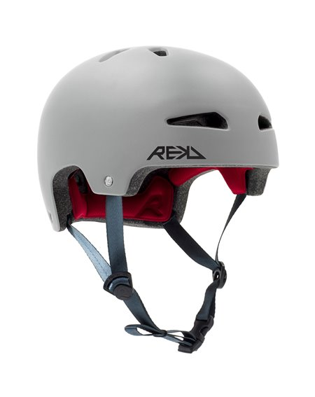Rekd Protection Ultralite In-Mold Skateboard Helmet Grey